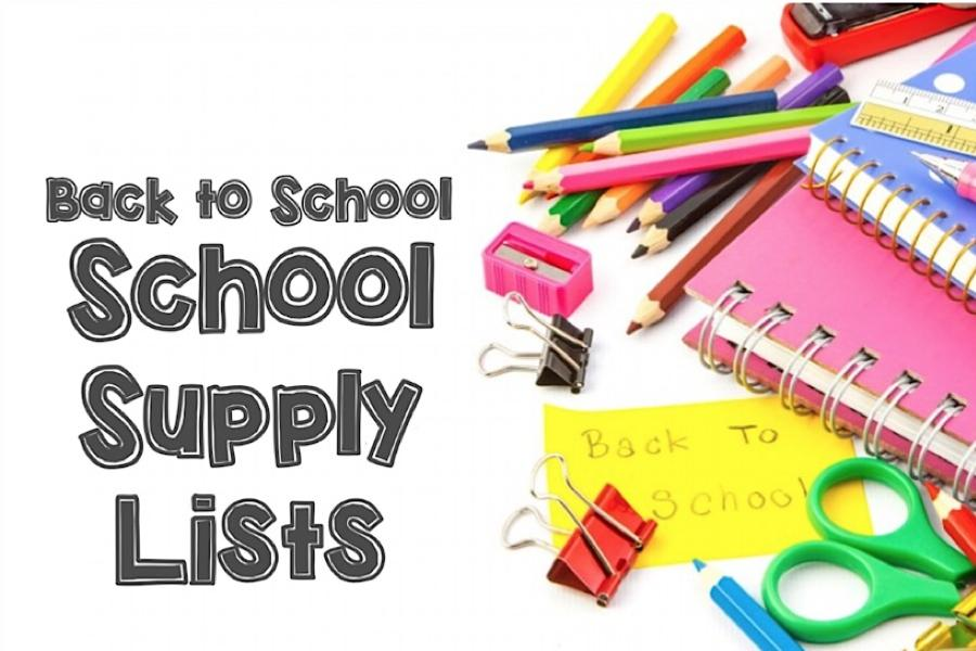 School Supply Lists for 2019/20